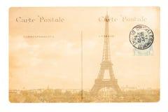 Vieille carte postale de Paris Images libres de droits