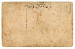 Vieille carte postale. Du côté incliné. images stock