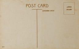 Vieille carte postale, postérieur de carte postale de style de vintage Image libre de droits