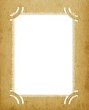 Vieille carte postale souillée par fond vide texturisé grunge vertical âgée de page de portfolio de photographie de blanc d'album Photos stock