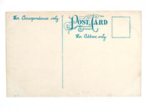 Vieille carte postale vide antique Photos libres de droits