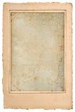 Vieille carte postale vide de photo avec le cadre Photographie stock