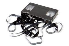 Vieille cassette inutilisable de VHS images stock