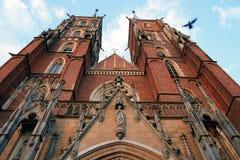 Vieille cathédrale à Wroclaw Image stock
