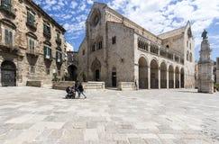 Vieille cathédrale dans Bitonto Italie Image libre de droits