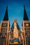 Vieille cathédrale dans Chanthaburi Images libres de droits