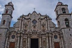 Vieille cathédrale de la Havane Photographie stock libre de droits