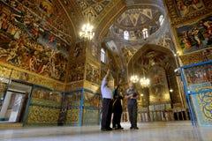 Vieille cathédrale de Vank d'Arménien, Iran Images stock