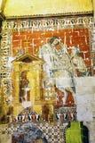 Vieille cathédrale Espagne de Salamanque de mosaïque antique Image libre de droits