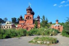 Vieille cathédrale orthodoxe de croyants à Kazan, Russie Photographie stock