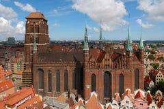 Vieille cathédrale à Danzig Photo stock