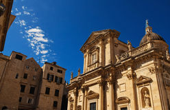 Vieille cathédrale de ville de Dubrovnik Image stock