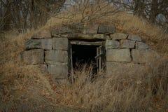 Vieille cave de racine Photo stock