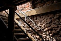 Vieille cave occidentale hantée de ferme Photographie stock libre de droits