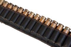 Vieille ceinture de cartouche image stock