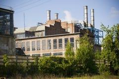 Vieille centrale électrique Images libres de droits