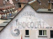 Vieille centrale de chocolat images libres de droits