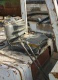 Vieille chaise de chariot élévateur Photo stock