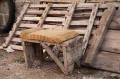 Vieille chaise de pêche Photo libre de droits