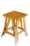 Vieille chaise en bois Photographie stock