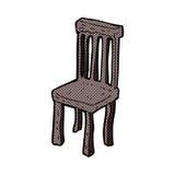 vieille chaise en bois de bande dessin e photos libres de droits image 37028198. Black Bedroom Furniture Sets. Home Design Ideas