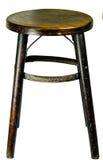 Vieille chaise en bois de sphère photos stock