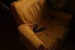 Vieille chaise et contrôle Photos stock