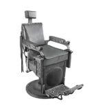 Vieille chaise noire d'isolement Photos stock