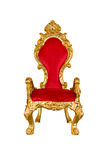 Vieille chaise rouge Photos stock