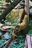 Vieille chaise vidée Photos stock