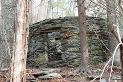 Vieille Chambre en pierre en bois Images libres de droits