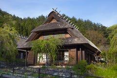 vieille maison japonaise dans la for t image stock image 45868285. Black Bedroom Furniture Sets. Home Design Ideas