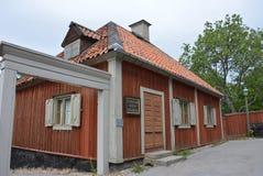 Vieille Chambre suédoise traditionnelle image stock