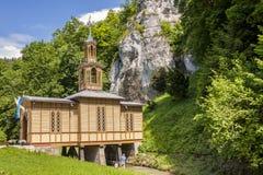 Vieille chapelle en bois Ojcow - en Pologne Image libre de droits