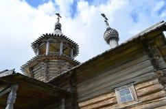 Vieille chapelle sur l'île Carélie de Kizhi photo libre de droits