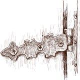 Vieille charnière de porte illustration libre de droits
