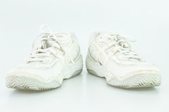 Vieille chaussure blanche Photo stock