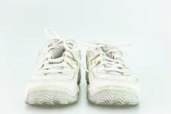 Vieille chaussure blanche Photographie stock libre de droits