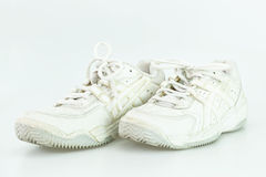 Vieille chaussure blanche Photographie stock