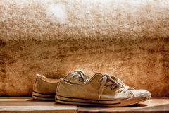 Vieille chaussure de toile Image stock
