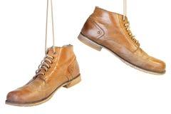 Vieille chaussure deux Photos libres de droits