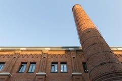 Vieille cheminée de brique photo libre de droits