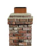 Vieille cheminée de brique d'isolement Photographie stock