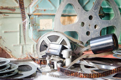 Vieille cinématographie d'équipement d'appareil-photo images libres de droits