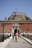 Vieille citadelle dans la ville de Corfou (Grèce) Images libres de droits