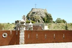 Vieille citadelle dans la ville de Corfou (Grèce) Image stock