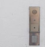 Vieille cloche de porte de vintage avec l'interphone Photos stock