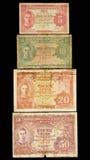 Vieille collection de billet de banque de la Malaisie. Photos libres de droits