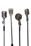 Vieille collection de microphone Images libres de droits