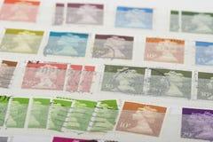 Vieille collection de timbres Image stock